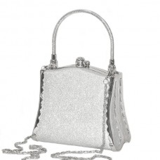 Purse / Tote / Clutch - Bag - Silver Sparkle Bell