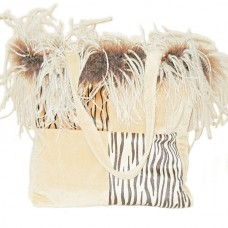 Purse - Bag - Tiger Patched With Feathers