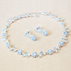 Jewel Set - Crystal Flowers - Maya Blue
