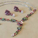Floral Dusty Fuchsia Necklace