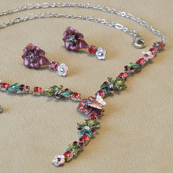 Jewel Set - Pansy dusty fuchsia
