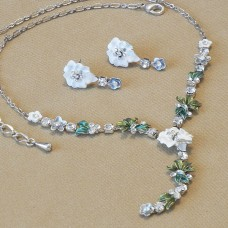 Jewel Set - Pansy pure white