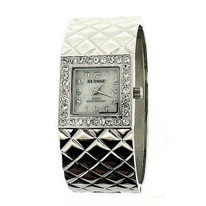 Silver Ladies Bangle Watch