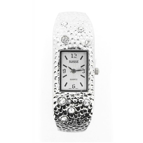 Ladies Bangle Watch Silver