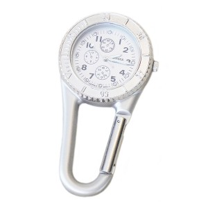 Stainless Steel Clip-on Watch