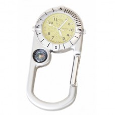 Compass Stainless Clip-on Watch