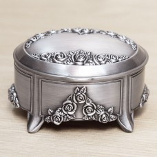 Pewter Musical Jewelry Box