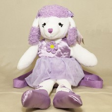 Purple Poodle Back Pack