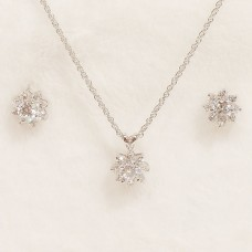 Tiffany Floral Cubic Zirconia Jewel Set