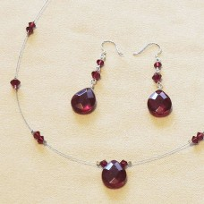 Garnet Teardrop Jewel Set