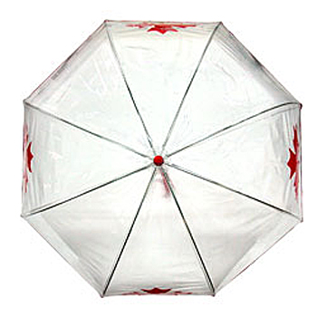 Bubble Maple Leaf Red Umbrella