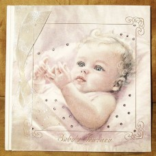 Blonde Baby Journey Book with Swarovski Crystals