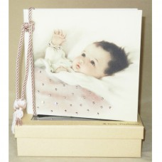 Baby Content Pink - Terra Photo Album with Swarovski Crystals