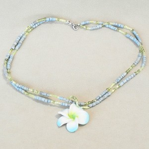 Blue Shell Chain Necklace