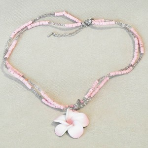 Pink Shell Chain Necklace