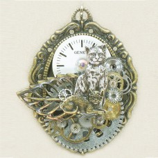 Steampunk Art Cats Brooch