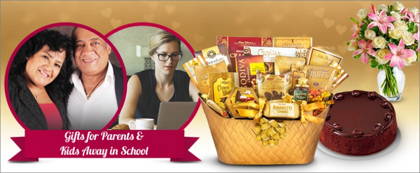 Gifts for Parents, Grandparents, Kids away in school, and friends. Find the best gift baskets, cakes, flowers and more!