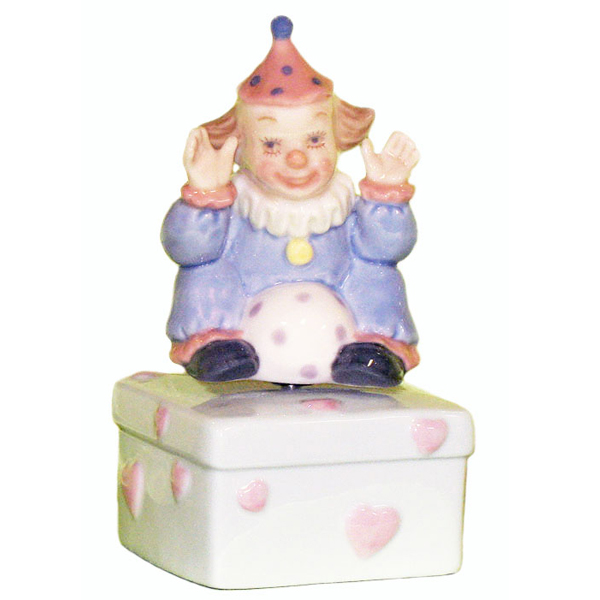 Musical Figurine - Clown sitting with ball