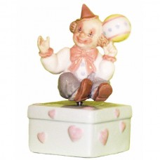 Musical Figurine - Clown holding a ball