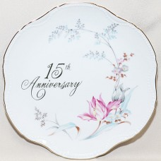 15th Wedding Anniversary Wall Plate