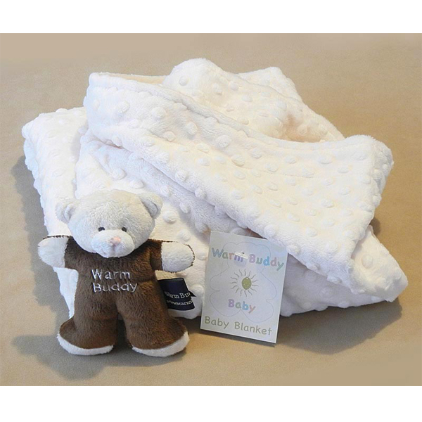 Baby Blanket with Teddy - Cream