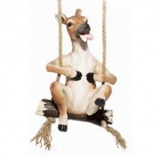 Fawn Figurine - Happy Fawn on a swing