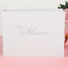 Bridal Shower Guest Book - White