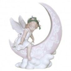 Porcelain Figurine - Angel Girl on Moon