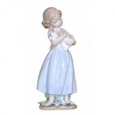 Porcelain Figurine - Girl holding Puppy