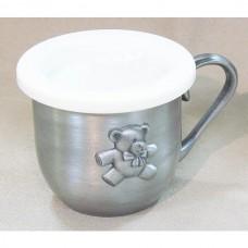 Pewter Engravable Baby Keepsake - Cup Teddy Bear