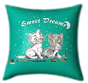 Glow-in-the-dark Pillow - Sweet dreams with Kitties