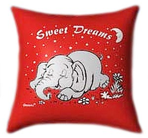Sweet Dreams with Elfy the Elefant Glow In The Dark Pillow