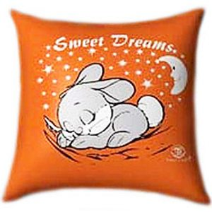 Sweet Dreams with Cute Bunny Beny Glow In The Dark Pillow