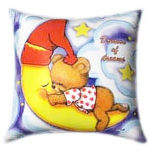 Dreams of Dreams Teddy Sleeping on the Moon Glow In The Dark Pillow