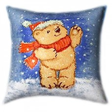 Santa Teddy Glow In The Dark Pillow