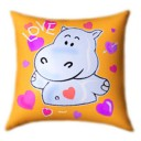 Hippopotamus Glow In The Dark Pillow