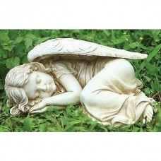 "12"" Angel Sleeping Garden Statue"