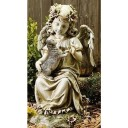 Angel with Kitten Garden Statue