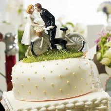 A Kiss Above Bicycle Couple Cake Top Weddingstar