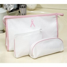 Pink Ribbon Cosmetic Bag Set