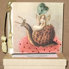 Fairy On Snail Terra Photo Album with Swarovski Crystals