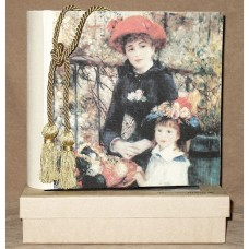 Mom and Daughter by Renoir - Swarovski Crystals Photo Albumum