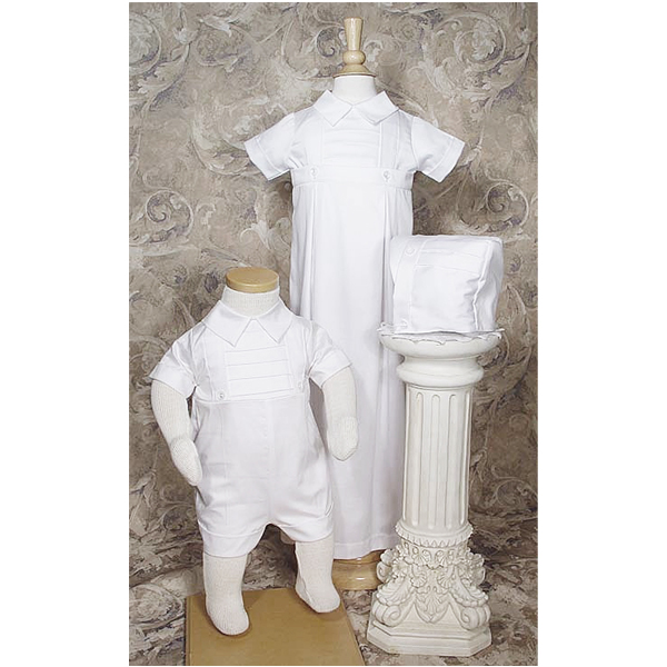 Conv 6 Month Cotton Baptism Gown Set
