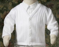 Boy Knit Baptism Sweater