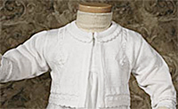 Girl Knit Baptism Sweater