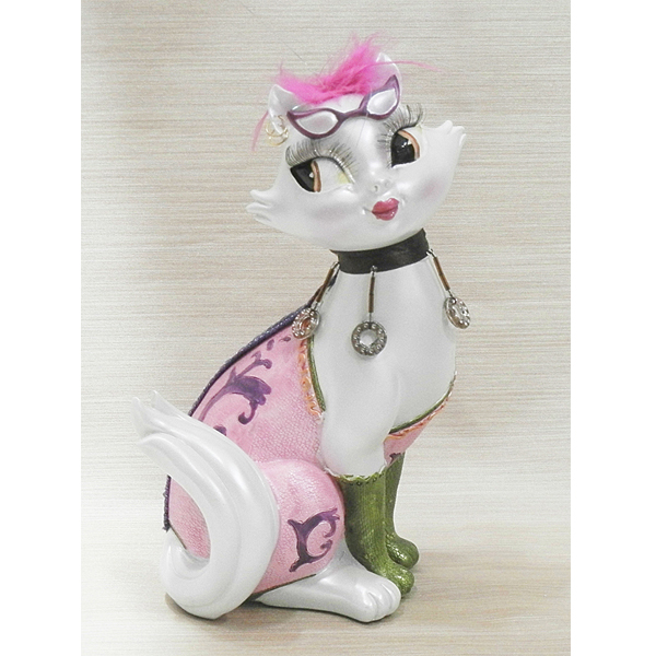Fancy Feline Bank Figurine
