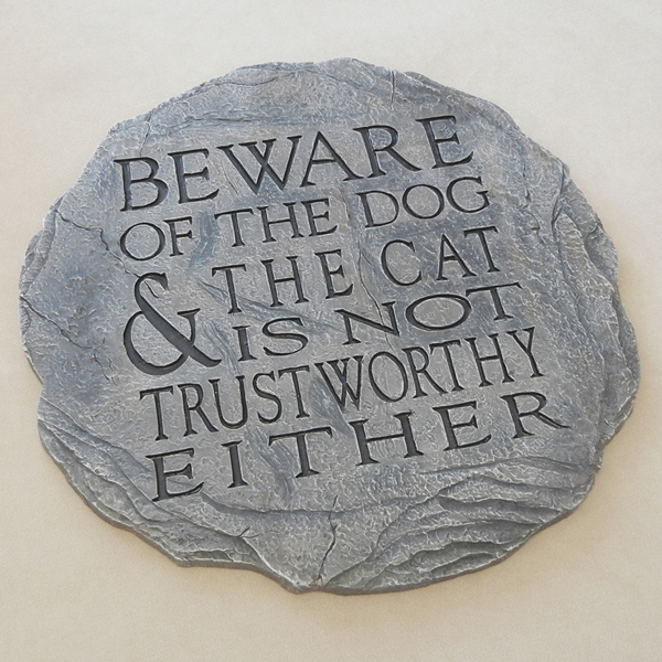Cat and Dog Stepping Stone Garden