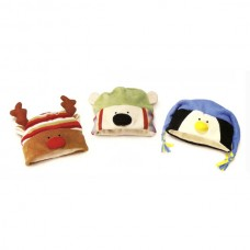 Plush Hat Reindeer, Penguin and Polar Bear