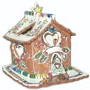 Candy Cane Bungalow Candle House Blue Sky