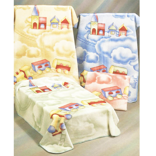 Fetexsa Childrens Bedding Mink Baby Blanket Choo Choo Train